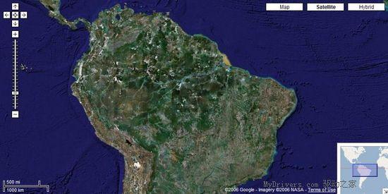Google的Google Maps服务近日再次进行了重大升级。得益于Google Earth数据库最近的大幅度扩充,Google Maps在卫星/航拍照片分辨率方面再上一个台阶。   在升级后的Google Maps中,德国全境和欧洲大部分地区都可以获得高分辨率卫星/航拍照片,赌城拉斯维加斯更是达到了每像素3英寸,很多其它地区也现出了真面目。   此外,如果从较远的视角看Google Maps,会发现大陆部分变得更绿了,这是因为Google现在使用了TrueEarth公司的数据集(DataSet)。