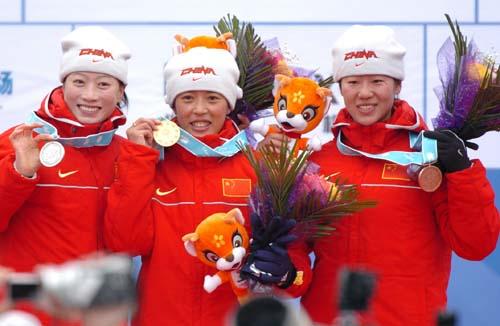 刘显英夺得冬季两项女子7.5公里金牌