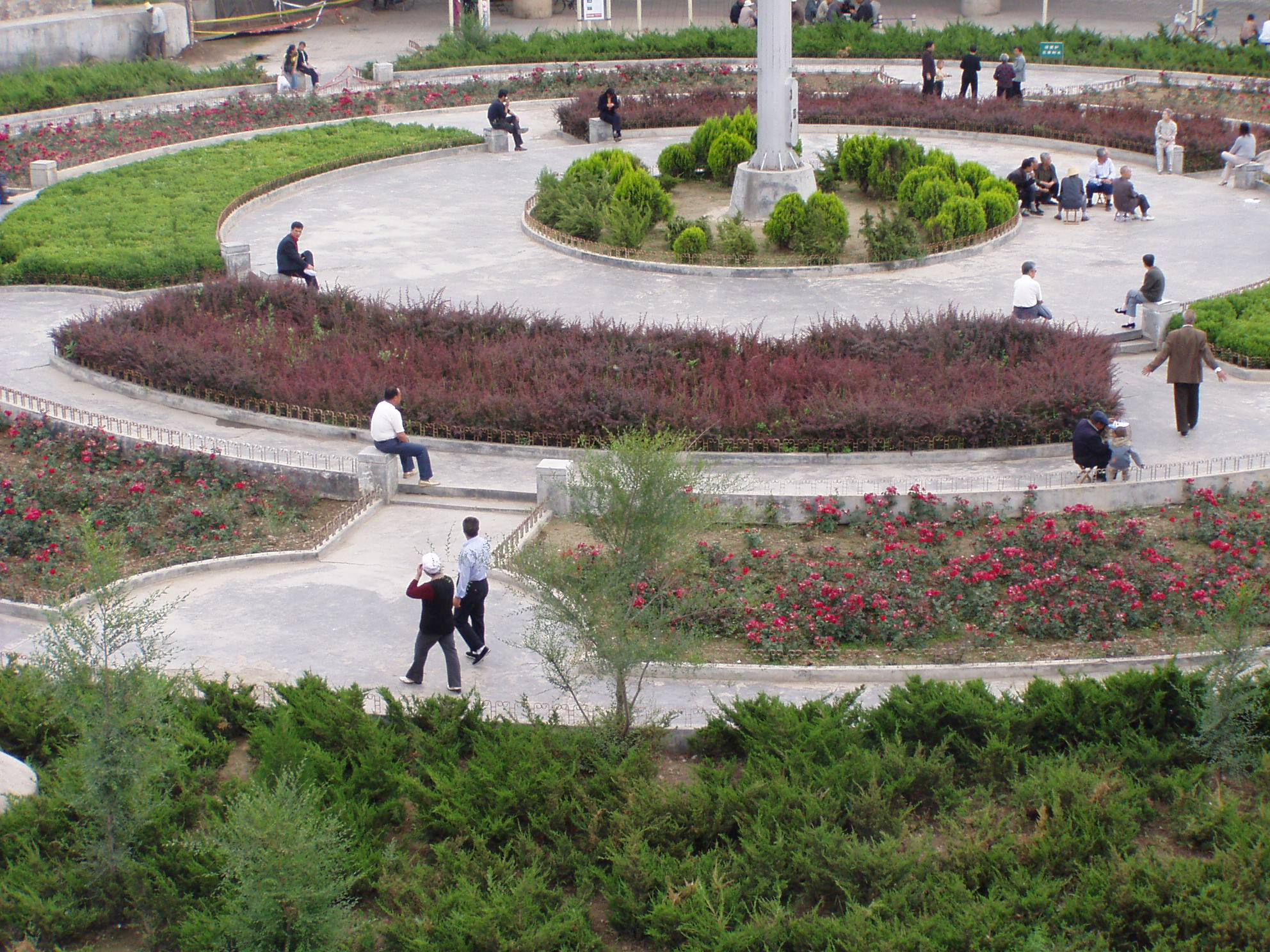 长方形花坛绿化效果图