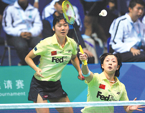 张亚雯 魏轶力晋级女子双打半决赛