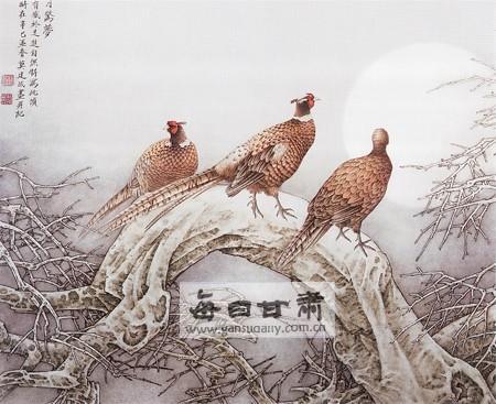 《寒月惊梦》(中国画)莫建成