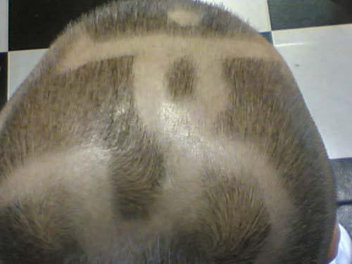 男生头发刻图案