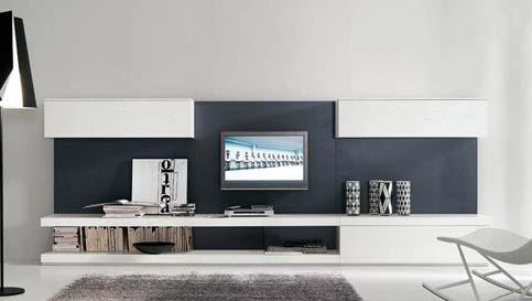 黑白电视背景墙