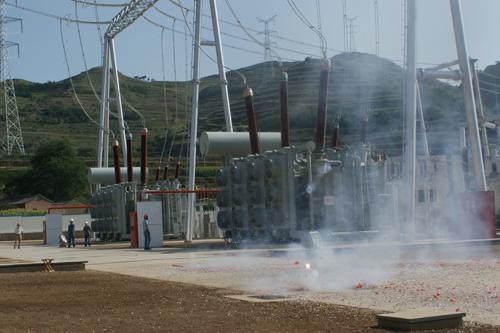 kv变电站连接;110kv采用gis设备