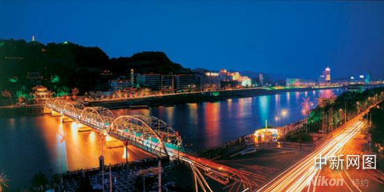 兰州黄河铁桥作文_黄河铁桥夜景-黄河铁桥|夜景-兰州