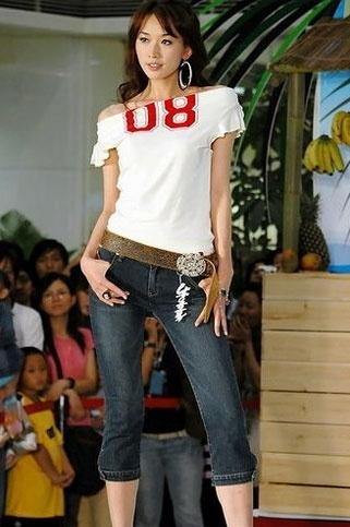 看超模林志玲牛仔裤穿搭