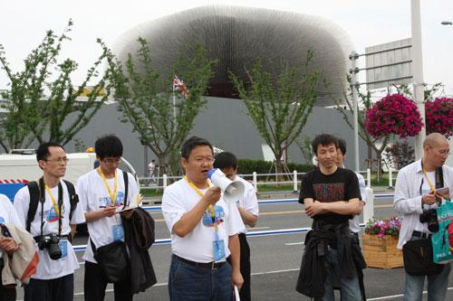 云南网总编辑柴红飚代表网媒世博联盟讲话
