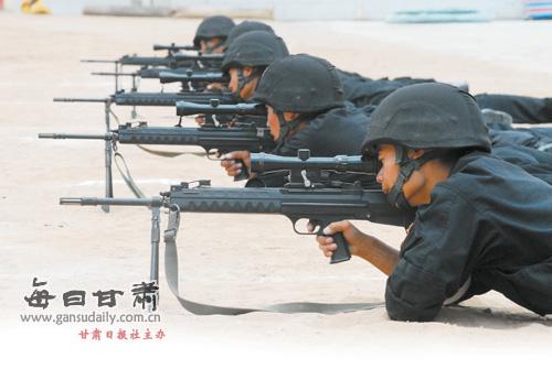 武警步枪矢量图