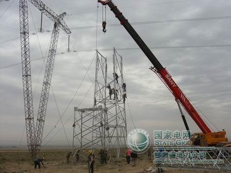 已完成张嘉一回线3基铁塔改造