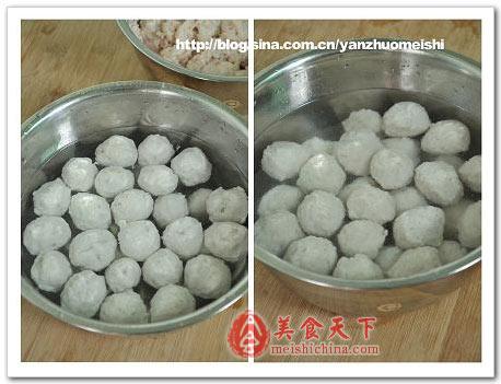 冬瓜蘑菇鱼丸汤-纯手工制作湖北鱼丸