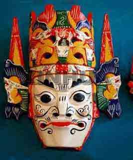 藏族面具简笔画
