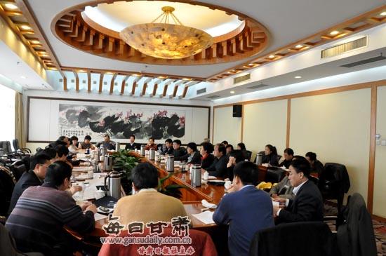政协甘肃省十届四次会议举行分组讨论