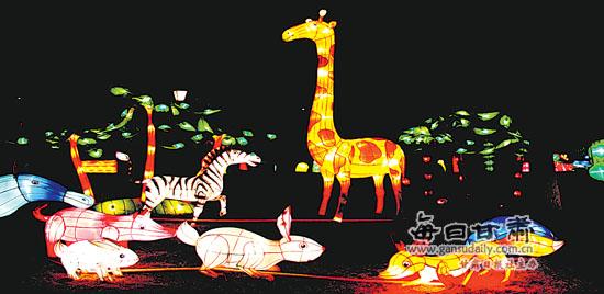 兰州市歌曲情趣上的广场为新春增添不少市民-情趣灯饰国语图片