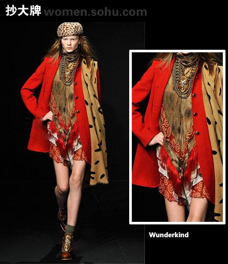 暗红色大衣搭配围巾