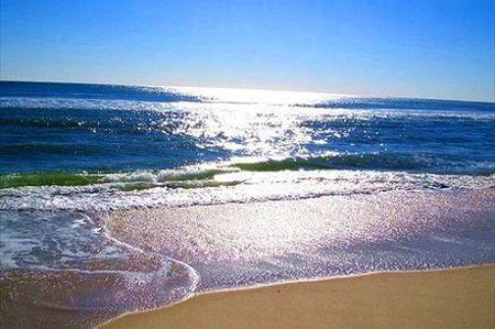 山东长岛的海滩