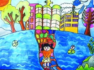 嘉禾画室10岁樊楚桦作品《我心中的兰州新区》.-我心目中的兰州新