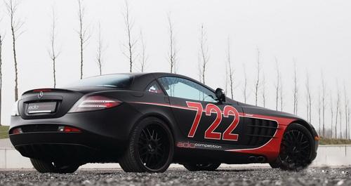 奔驰slr黑弓722改装版 奔驰 黑弓 改装版 每日甘肃 汽车 高清图片
