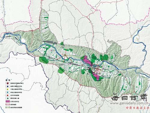 《兰州市城市总体规划(2011-2020)》(草案)(组图)