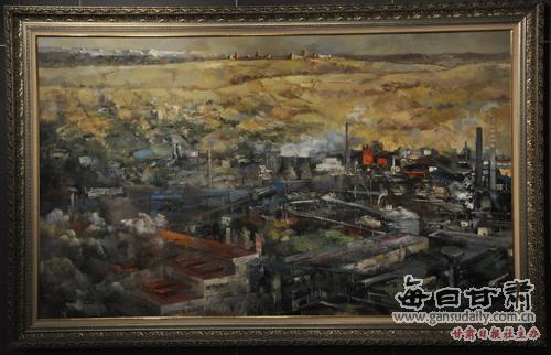 戈壁明珠(油画)-历史题材|美术创作-每日甘肃-专题