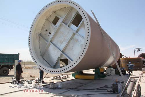塔筒生产有序跟进,为大型风机建设提供了有力保障