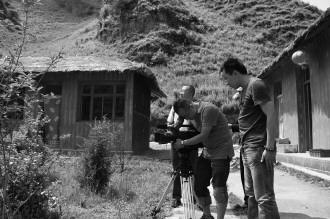 甘肃/甘肃电视台《影像定西》摄制组正在拍摄渭源县乡野香农家乐。