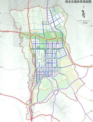 综合交通体系规划图-兰州新区总体规划 通过 新区以后这样建