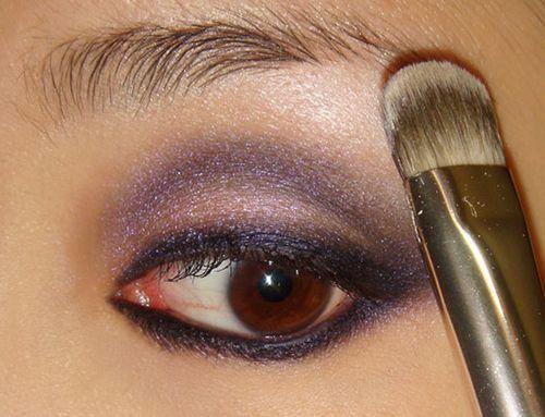紫色烟熏妆步骤详解教你画