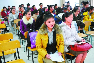 中国传媒大学南广学院2012年艺术类招生现场