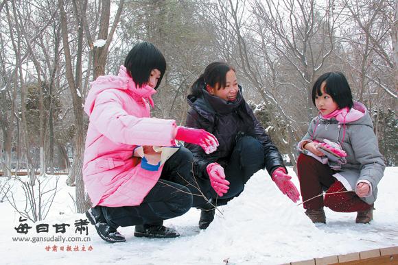 兰州:降雪降雪另一种情趣(图)-平添-每日甘肃-甘床有圆都啥情趣图片