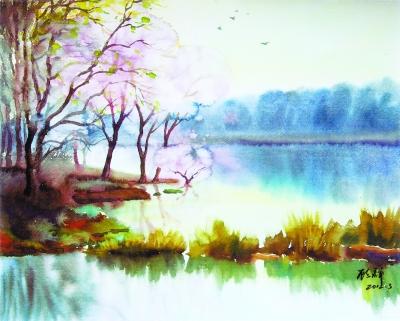 水彩风景步骤图解