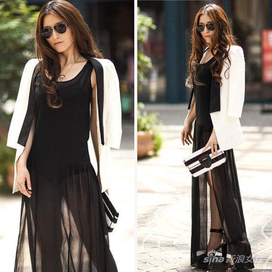 夏末高圆圆柳岩黑纱裙比拼