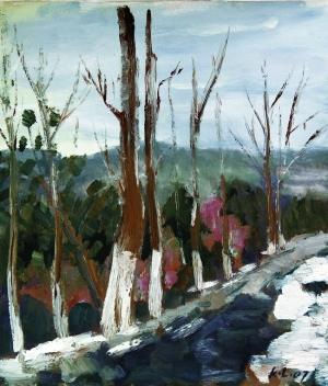 大敦煌:沿途的风景——马克利油画欣赏