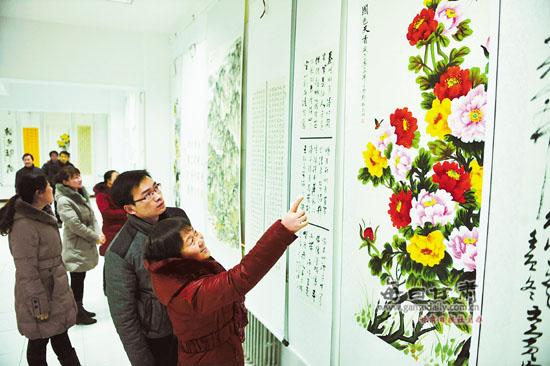 静宁县举办迎新春书画展(图)图片