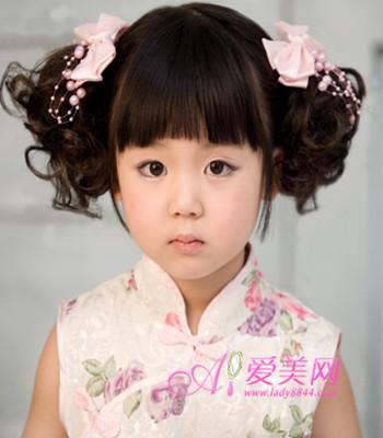 儿童唐装发型图解步骤