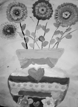 儿童画 花瓶图片