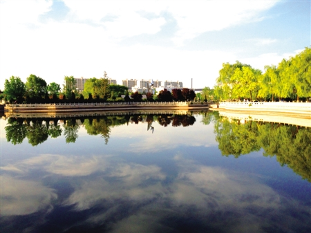 西峰阳光天湖风景如画-西峰|市民-每日甘肃-陇东报