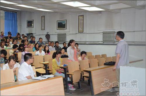 东南大学单建教授来兰州理工大学做教学示范讲座