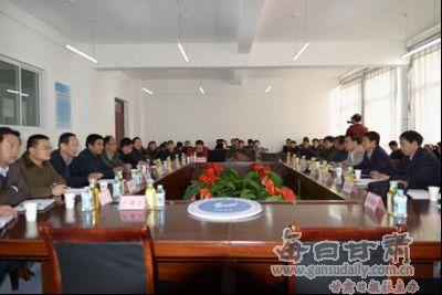 甘肃煤炭工业学校领导来兰州资源环境学院考察交流