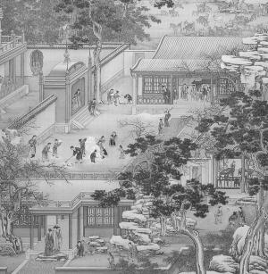 中国古代马车图片房屋