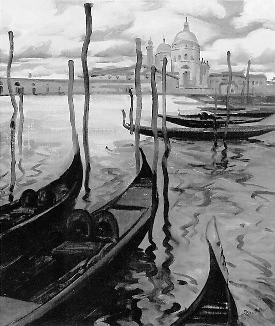 水城印象 油画