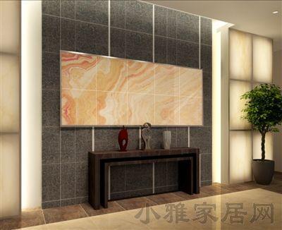 瓷砖背部景观墙 格外醒目