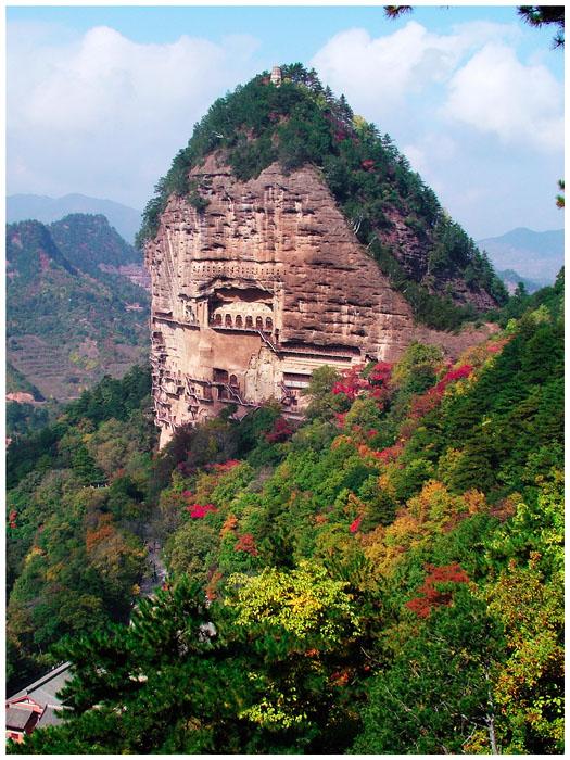 金桥旅游推荐最具潜力的中国十大风景名胜区 天水麦积山