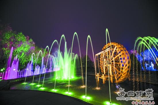 """兰州水车博览园提升改造亮""""新容"""" 打造百米喷泉景观-水车博览园-每日图片"""