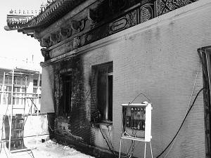 西北民族大学图书馆突发大火