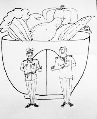 幼儿食品安全教育简笔画