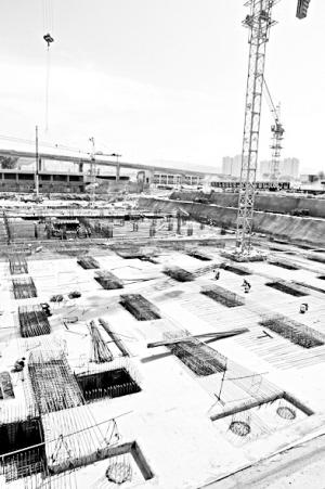 兰州西站城市配套二期工程进入主体结构施工阶段