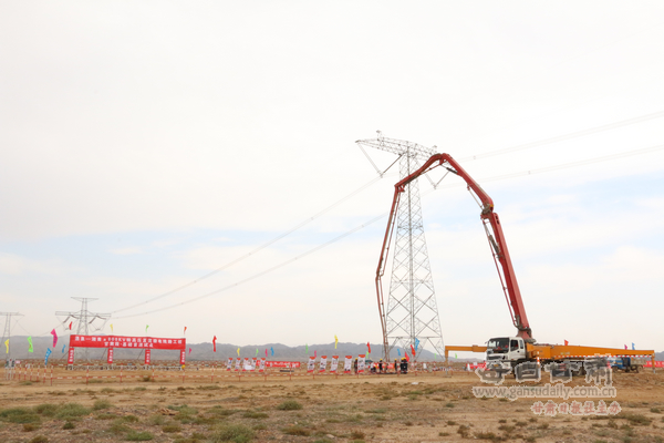 酒泉—湖南特高压直流输电线路工程(甘肃段)进入全面