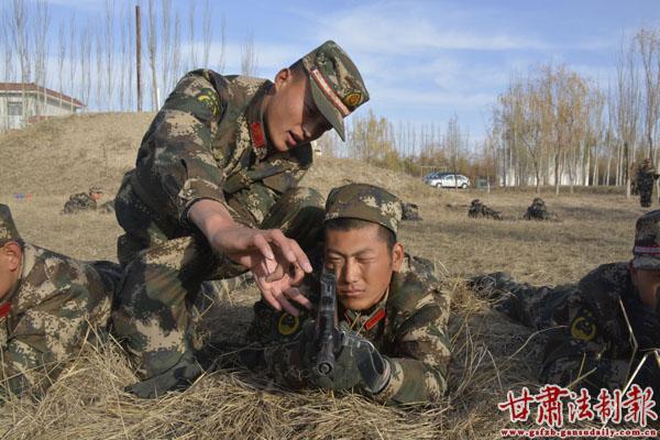 甘肃边防总队新兵训练现场