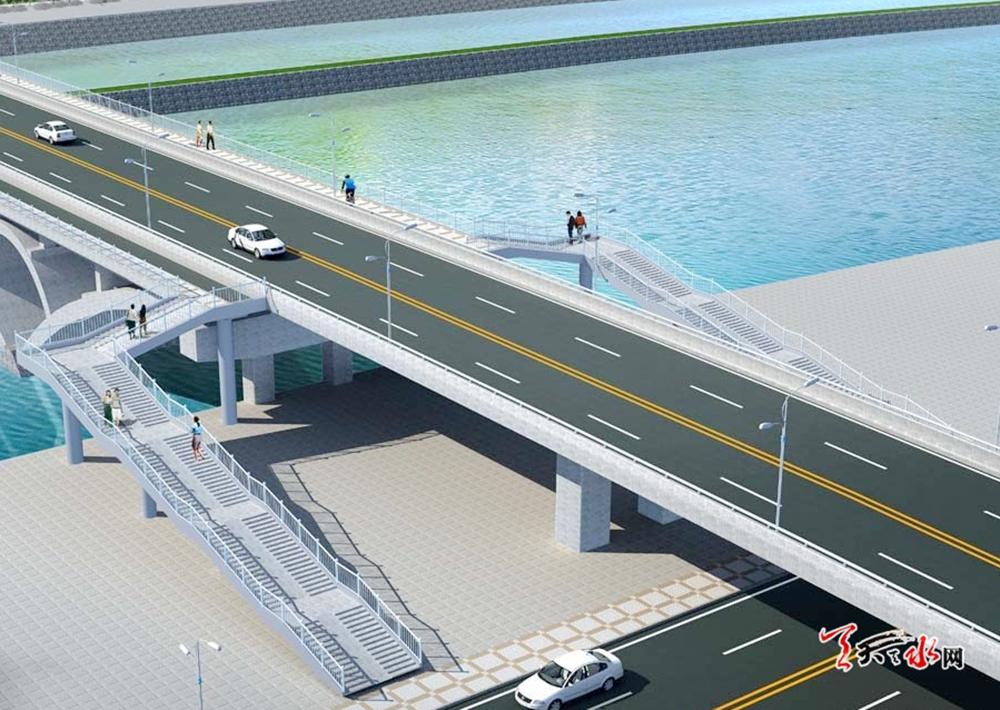双桥藉河大桥正在进行主桥上部结构施工