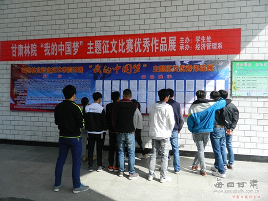 甘肃林业职业技术学院学院 我的中国梦 主题征文比赛圆满落幕